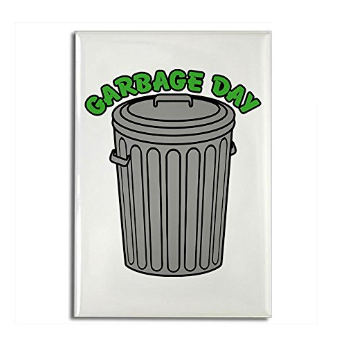 CafePress - Garbage Day Trash Can Magnets - Rectangle Magnet, 2
