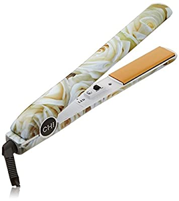 "CHI PRO 1"" Ceramic Flat Iron, White Rose"
