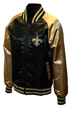 NFL Ladies New Orleans Saints Satin Team Spirit Jacket by MTC Marketing, Inc