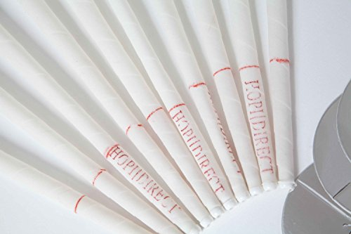 Hopi Direct Ear Candles x 20 (10 pairs) with Protector Discs, Natural Peppermint with Beeswax