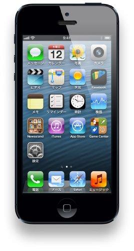 海外版SIMフリーiPhone5 16GB BLACK ブラック 黒
