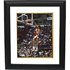 Spud Webb Autographed Hand Signed Atlanta Hawks 16x20 Photo Custom Framed (1986 Slam... by Hall of Fame Memorabilia