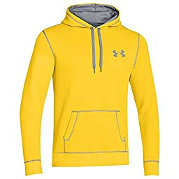 Under Armour Rival Cotton Hoody - Men\'s Taxi / Steel Large