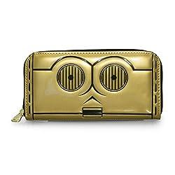 Loungefly X Star Wars C3PO Zip Around Wallet in Gold