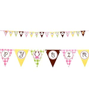 Pink Cowgirl Ribbon Flag Banner by BirthdayExpress