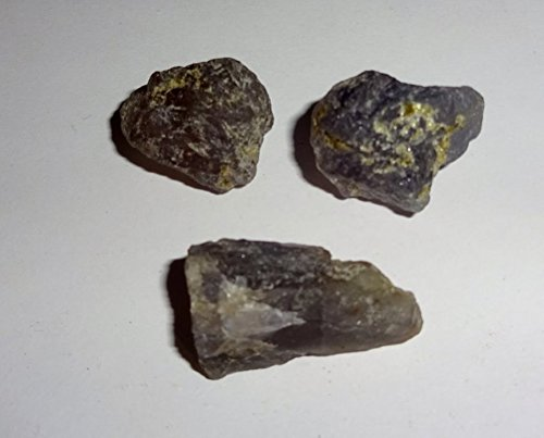 3pc #1 Raw A-Grade Iolite Healing Crystal Gemstone Specimen Rough Stone (Gem Cluster 16g compare prices)