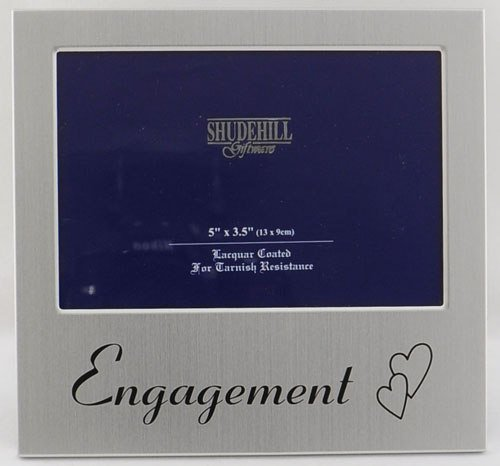 Engagement Satin Silver Photo Frame