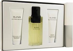 Sung by Alfred Sung for Women. Set-Eau De Toilette Spray 3.4-Ounces & Body Lotion 2.5-Ounces & Shower Gel 2.5-Ounces