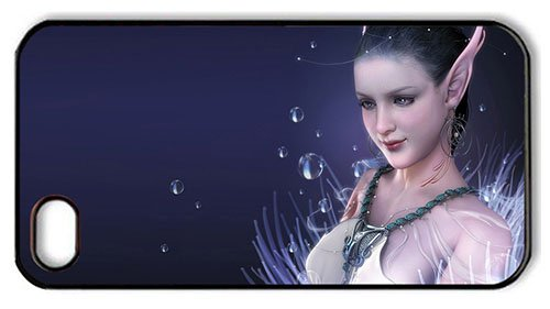 Vintage Iphone 4 Case Shop White Clothes Elf Girl Pc Black For Iphone 4/4S front-587830