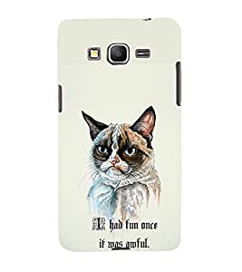 TOUCHNER (TN) Angry Cat Back Case Cover for Samsung Galaxy Grand Prime G530h