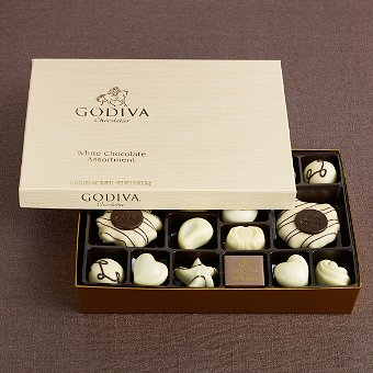 Godiva Chocolatier White Chocolate Gift Box (24