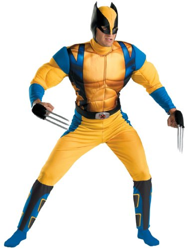 Wolverine Classic Muscle Teen & Adult Marvel Comics X-Men Costume Age:Adult