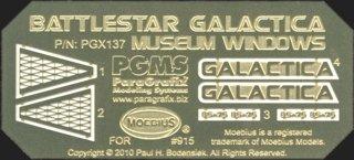 Battlestar Galactica Museum Windows Model Kit Photoetch Set