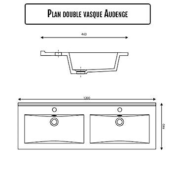 plan double vasque c ramique c ramique c raplan 120 cm cuisine maison m62. Black Bedroom Furniture Sets. Home Design Ideas
