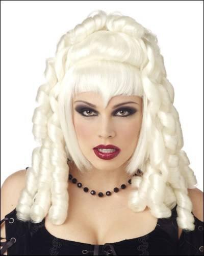 Goth Vampira White Costume Wigs - 1