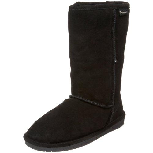 Bearpaw Women's Emma 10 Black Fur Trimmed Boot 610W 4 UK