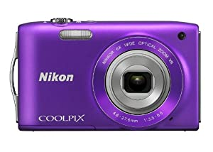 Nikon COOLPIX S3300 16 MP Digital Camera with 6x Zoom NIKKOR Glass Lens and 2.7-inch LCD (Purple)
