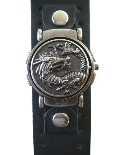 Dragon Flip Watch - Dragon Flip Thick Leather Watch