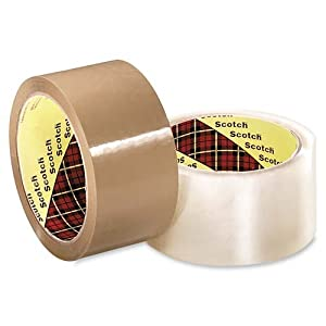 3M Scotch(R) Commercial-Grade Box Packing Tape 3710, 2in. x 55 Yd., Clear, Pack Of 6