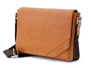 Cool Bananas OldSchool Class1 Leder-Tasche für MacBook Pro (33,7 cm / 13,3 Zoll und 39,1 cm / 15,4 Zoll), hellbraun