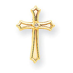 IceCarats Designer Jewelry 14K Aa Diamond Cross Pendant