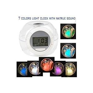 Nature Sound 7 Color Changing Light Alarm Clock