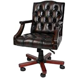 Luxury leather office chair brown swivel chair desk chair - Executive Chair