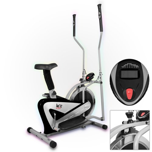 We R Sports 2-in-1 Elliptical Cross Trainer and Exercise Bike with Flywheel - Black