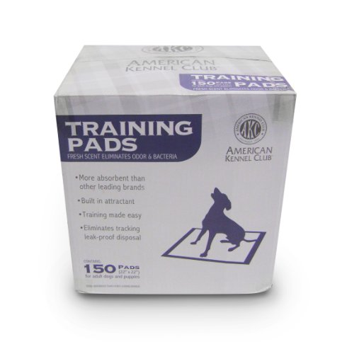 AKC Dog Training Pads, 22-Inches x 22-Inches, 150-Pack