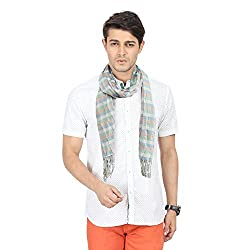 FabSeasons Green Stripes Scarf, Scarves, Stole and Shawl for Men