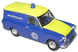 Oxford Blue and Yellow Hm Coastguard Angila Van 1.76 Railway Scale Diecast Model