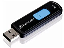 Transcend 8GB USB 2.0 Flash Drive (Black)