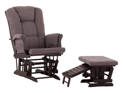 Review Of Status Veneto Glider and Nursing Ottoman, Black/Grey