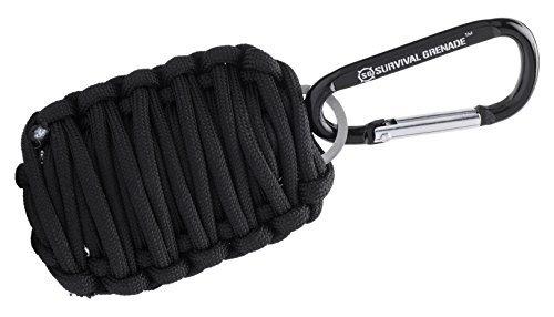 #1 BEST Survival Kit - Survival GRENADE Emergency Key Chain Survival Kit - Paracord Grenade Survival Kit with 8+ Tools + Fire Starter & Eye Knife (Black) Color: Black, Model: , Tools & Hardware store