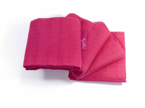 Faye and Lou Supersoft Muslin Cloth, Pink, 4 Count
