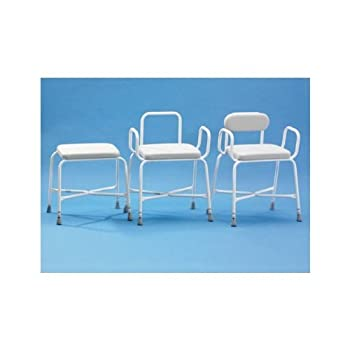 Shower Stool Sherwood Plus Bariatric Perching Arms And Back by Patterson Medical