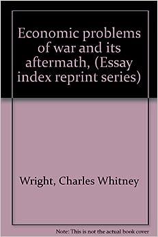 economics essay index peace reprint series