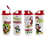 Disney Mickey and Friends Holiday Snowflake Tumblers Set of 4 by Tupperware