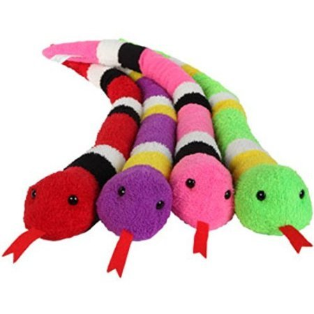 Colorful Plush Snakes, 23""