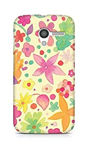 Amez designer printed 3d premium high quality back case cover for Motorola Moto X (Design Flowers)