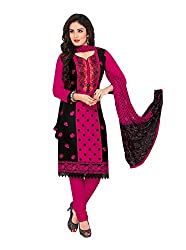 RK Fashion Womens Cotton Un-Stitched Salwar Suit Dupatta Material ( RAJGURU-PAHELI-9273-Pink-Free Size )