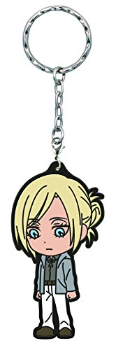 Banpresto Attack on Titan Annie Leonhart Kyun-Chara Illustrations Rubber Key Chain - 1