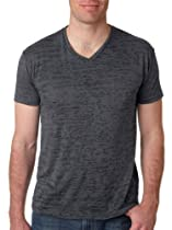 Next Level 6140 Mens Burnout VNeck Tee - Dark Grey - Medium