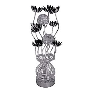 Modern Silver Aluminium Metal Vase Flowers Design Table Lamp from MiniSun