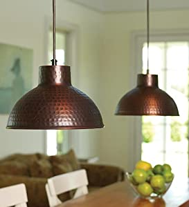 screw in antique hammered copper pendant lighting with. Black Bedroom Furniture Sets. Home Design Ideas