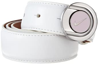 Nike Golf Women's Ball Marker Belt, White, Medium