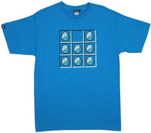 Diamond crafting grid minecraft t shirt minecraft for Mine craft t shirt
