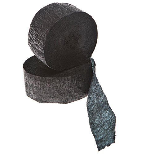 Black Crepe Streamers 81 ft (Crepe Paper Steamers compare prices)