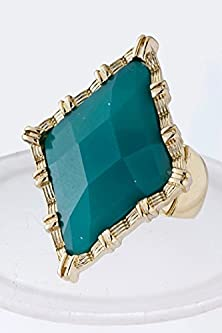 buy Trendy Fashion Jewelry Diamond Jewel Ring By Fashion Destination | (Turquoise)