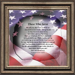Those Who Serve Calligraphrase - The Soldiers Prayer